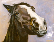 Bay Horse Drawings - So Give Me the Carrot Already by Susan A Becker