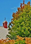 Red Barn. New England Prints - So Many Colors Print by Karin Pinkham