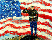 July 4th Paintings - So Proudly They Hailed  by Mark Moore
