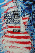 Guitar Painting Originals - So Proudly We Hail by Dan Campbell