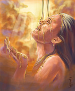 Biblical Art Posters - Soaking in Glory Poster by Cindy Elsharouni