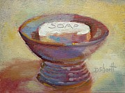 Donna Shortt Painting Posters - Soap Dish Poster by Donna Shortt