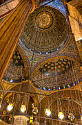 Ottoman Metal Prints - Soaring Architecture of the Mosque of Muhammad Ali Pasha Metal Print by Mark E Tisdale