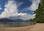 Charles Kozierok Art - Soaring Clouds Over Lake McDonald by Charles Kozierok