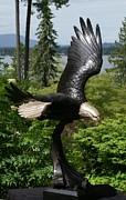 Patriotic Sculptures - Soaring Eagle by Mike Curtis