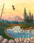 David Bentley Art - Soaring Into Dawn by David Bentley