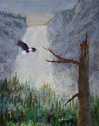 Eagle Paintings - Soaring by Mohamed Hirji