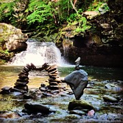 Waterfall Sculpture Prints - Sober  Print by Tyler Borchert