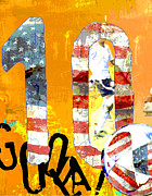 Teen Graffiti Mixed Media - Soccer Americana Wall Decor by Adspice Studios