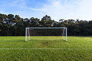 Visualize Framed Prints - Soccer Goal Framed Print by John Greim