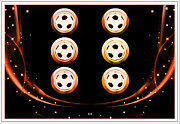 Soccer Medallions Print by M and L Creations
