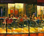 Bistro Paintings - Socializing by Michael Swanson