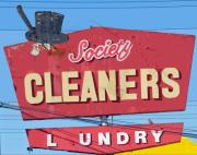 Society Cleaners Print by Charlette Miller