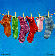 Stock Prints - Sock Options... Print by Will Bullas