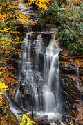 Rivers In The Fall Photo Framed Prints - Soco Falls Autumn Framed Print by Deborah Scannell