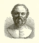 Famous Drawings Prints - Socrates Print by English School