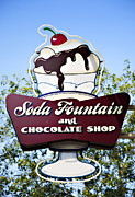 Ghirardelli Chocolate Framed Prints - Soda Fountain Framed Print by Ricky Barnard