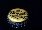 Bottle Cap Prints - Soda - Stewarts Root Beer Print by Paul Ward