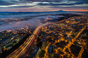Sodo Sunrise Seattle Morning Print by Mike Reid