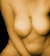 Nudes Digital Art - Soft Bawdy V2 by James Barnes