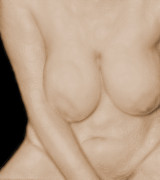 Nudes Digital Art Prints - Soft Bawdy V3 Print by James Barnes