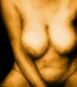 Nudes Digital Art - Soft Bawdy V4 by James Barnes