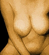 Nudes Digital Art - Soft Bawdy V6 by James Barnes