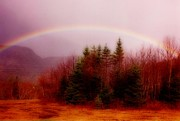 Halifax Art Work Metal Prints - Soft Cape Breton Rainbow Metal Print by John Malone