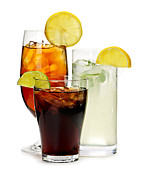 Glasses Metal Prints - Soft drinks Metal Print by Elena Elisseeva