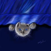 Kitten Digital Art - Soft Kitty by William  Paul Marlette
