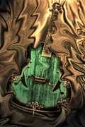 Lebron Prints - Soft Music Digital Guitar Art by Steven Langston Print by Steven Lebron Langston