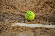Fast Ball Photo Prints - Softball Life Print by Mj Burden
