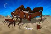 Dali Like Digital Art - Softe Grand Piano SE by Mike McGlothlen