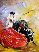 Torero Portrait Posters - Softly and Gently Poster by Miki De Goodaboom