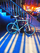 Cities Pyrography Metal Prints - Soho Bicycle  Metal Print by Joan Reese
