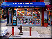 News Stand Prints - Soho News - Downtown New York City Print by Miriam Danar