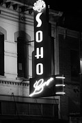 South By Southwest Framed Prints - Soho sign in Austin Framed Print by Jeff Kauffman