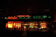 Neon Light Posters - Sohos Book Shop Poster by Stefan Kuhn