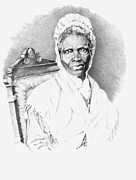 African American Art Drawings Posters - Sojourner Truth Poster by Gordon Van Dusen
