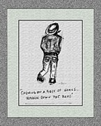 Young Man Drawings Prints - Sojourner...Just Passing Through Print by Glenn McCarthy Art and Photography