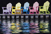 Adirondack Chair Framed Prints - Sol Framed Print by Mary Giacomini