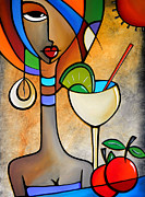 Wine Canvas Drawings - Solace by Fidostudio by Tom Fedro - Fidostudio