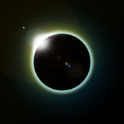 Solar Eclipse Digital Art Posters - Solar Eclipse Poster by Antony McAulay
