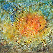 Pallet Knife Prints - Solar Print by Jim Benest