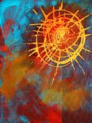 Star Burst Paintings - Solar by Nancy Merkle