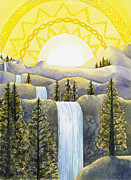 Power Paintings - Solar Plexus Chakra by Catherine G McElroy
