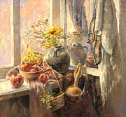 Culture Paintings - Solar still life by Meruzhan Khachatryan