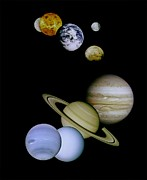 Movie Poster Prints Framed Prints - Solar System Montage Framed Print by Movie Poster Prints
