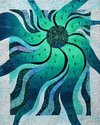 Fiber Art Posters - Solar Wind Poster by Patty Caldwell