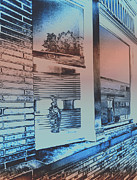 Filmstrip Posters - Solarizied Train Station Window Reflection Poster by ImagesAsArt Photos And Graphics